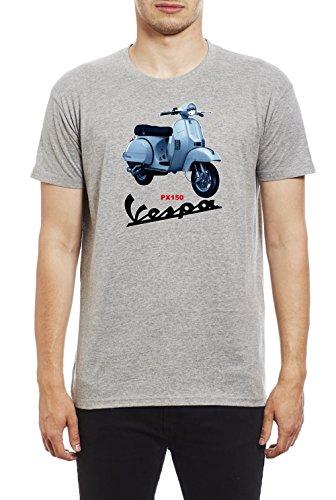 Northern Soul Vespa Scooter PX150. Camiseta para Hombre. Gris/XL
