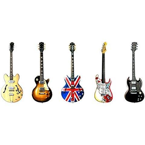 Biglietto di auguri cinque famosi rock chitarre,