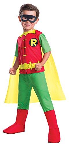 Superheld Robin-Kostüm für Jungen DC Comics grün-gelb-rot 104 (3-4 ()