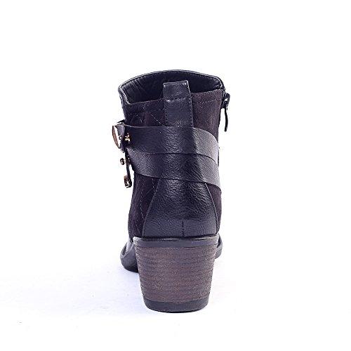 Alexis Leroy, Stivali Chelsea Boots alla caviglia donna fibbia multi-briglia Nero