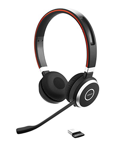 Jabra Evolve 65 Professionelles VoIP-Softphone Bluetooth Stereo Headset (geeignet für PC, Laptop, Smartphone und Tablet) Jabra Bluetooth-adapter