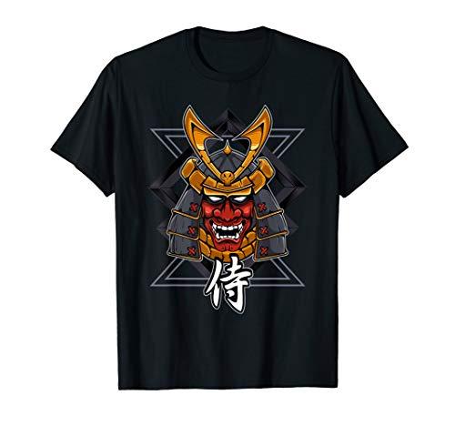 Samurai warrior Oni Demon Mask Bushido Knight t-shirt - Shogun Tattoo