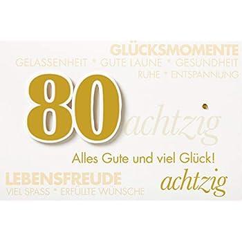 Favour Pop Up Gl/ückwunschkarte zum runden 80 das sich beim /Öffnen als Geburtstagstorte entfaltet Ein filigranes Kunstwerk Geburtstag ALTA80BL