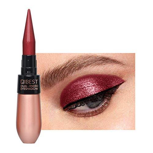 Eyeshadow Pen, Lidschattenpinsel Naked Wasserdichte 15 Farben Lidschatten Stift liegend Seidenraupe Eyeliner Stick Make-up Kosmetik Werkzeug Von KUKICAT