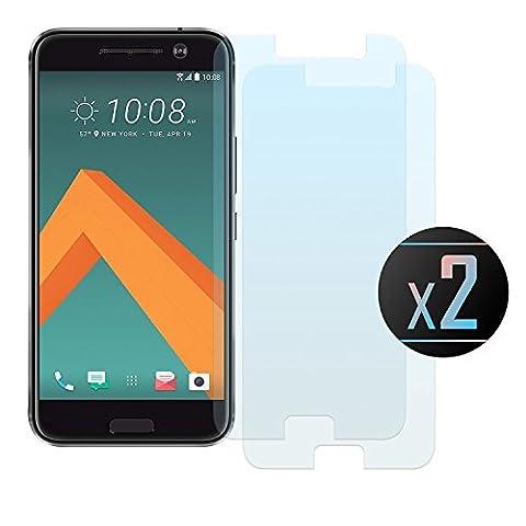 2 x HTC 10 Panzerglas, NEVEQ® Schutzfolie aus hochwertigem gehärtetem