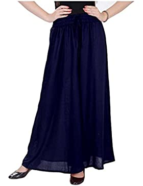 Indian Handicrfats Export WELORA Regular Fit Women's Dark Blue Trousers