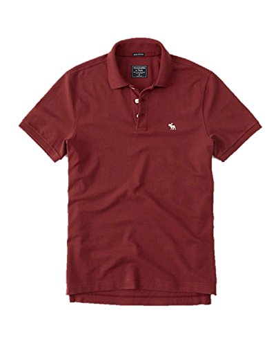 new-abercrombie-fitch-l-large-rust-icon-polo-shirt-soft-mens-auth