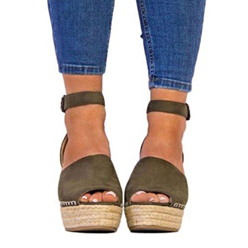 Sandalias de Cuña Sandalias de Vestir de Mujer Boca de pez Sandalias de Abiertos Tacones Zapatos de Plataforma