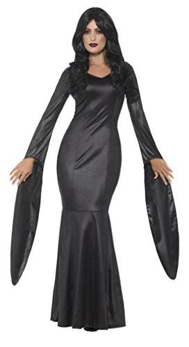 Unsterblich Kostüm - Smiffys Damen Unsterbliche Vampirin Kostüm, Kleid mit nassem Look, Größe: 36-38, 48018