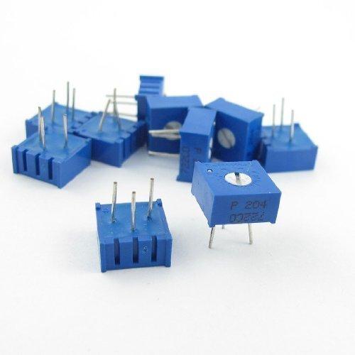 sourcingmap® 3386P-1-204 200K Ohm 0.5 W DIP Montaggio Tipo Potenziometri Trimmer 10 Pz - Cermet Trimmer Potenziometri