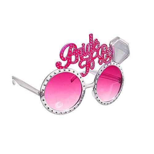 Haodou Modisch Party Gläser Braut-Singles-Party Brille Ebenenspiegel Schatten Glasses Schutzbrillen...