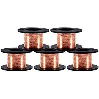 0,1 mm 1 20 Rollen//10 Rollen//5 Rollen Kupfer-Emaillierter Draht Magnetwicklung Reparaturdraht 15 m zum Verbinden oder L/öten