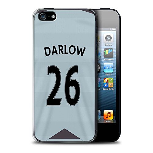 Offiziell Newcastle United FC Hülle / Case für Apple iPhone 5/5S / Colback Muster / NUFC Trikot Away 15/16 Kollektion Darlow