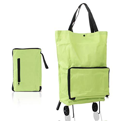 Silverback Einkaufstrolley Klappbar - Einkaufstasche Faltbar Mit Rollen - Faltbarer Einkaufswagen Einkaufstasche Trolley Grün