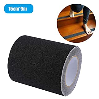 KKmoon Anti Slip Tape,Household Anti Slip Traction Tape High Friction Grip Tapes Strong Abrasive for Boats Steps Stairs Indoor/Outdoor 150mm * 9m