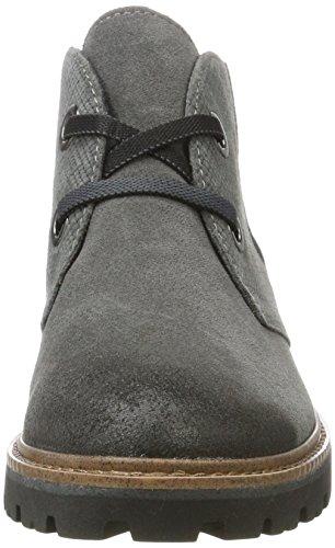 Marco Tozzi Premio Damen 25222 Desert Boots Grau (Dk.Grey A.Comb)