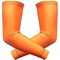 Par de mangas para deportes Suddora,mangas atléticas, naranja