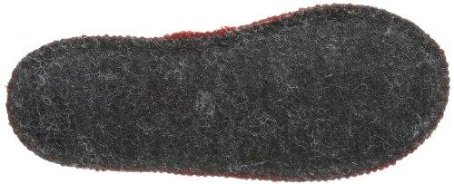 Haflinger Slipper Uno 628029 Unisex-Kinder Hausschuhe Rot (Rubin 411)