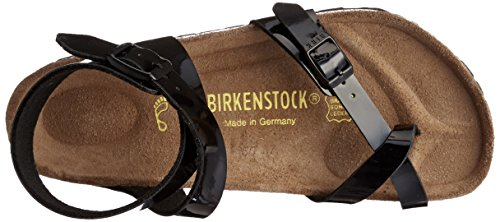 Birkenstock Classic Yara Birko-Flor Damen Knöchelriemchen Sandalen Schwarz (Schwarz Lack)