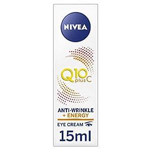 NIVEA Q10 Plus C Crema antiarrugas + Energy Eye Cream, crema para ojos antienvejecimiento con vitamina C y Q10…