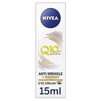 NIVEA Q10 Plus C Crema antiarrugas + Energy Eye Cream, antiedad crema para ojos con vitamina C y Q10 antioxidantes, uso diario, antiarrugas, 15 ml