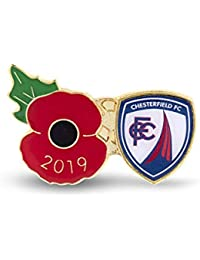 The Royal British Legion Chesterfield Poppy Football Pin 2019
