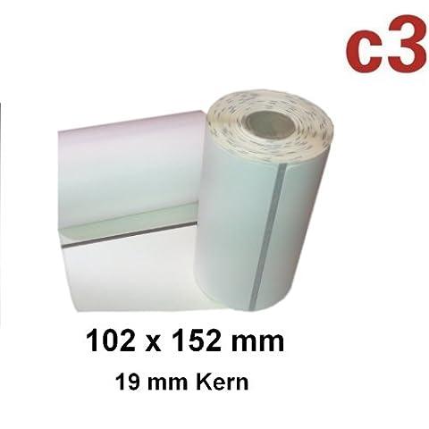 102x152mm Direct Thermal Labels Zebra QL420, QL 420PLUS P4T and
