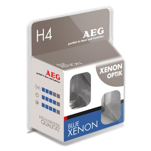 AEG Automotive 97261 Glühlampe Blau Xenon H4, 60/55 W, 2-er Set