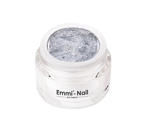 Emmi-Nail Stardust Silver : Gel UV pour brillant, Haute opacité, argent brillant, mittelviskos, végétalien, pas verlaufen dans les bords à ongles 5 ml