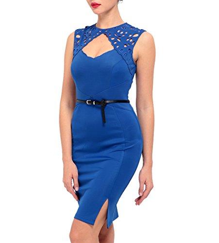 U8Vision - Robe - Cocktail - Femme Bleu