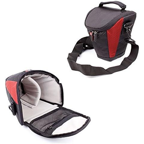 DURAGADGET Funda Negra Y Roja Para Nikon D5500 - Acolchada En Su Interior