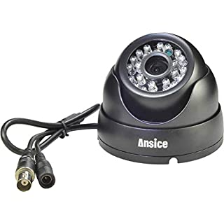 Ansice Dome Security Camera Coaxial Contral OSD,Coaxial HD 2M 1080P CCTV Camera,3 in 1 AHD/CVI/TVI Indoor/Outdoor Waterproof Default output is AHD by BNC Cable Can be a XVI Camera