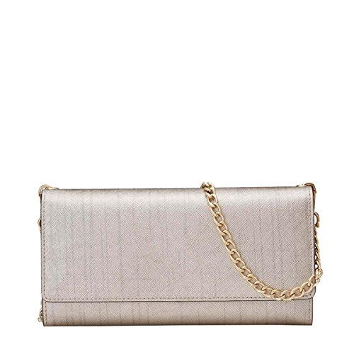 Tracolla Ms. Yy.f Nuovo Sacchetto Di Spalla Pacchetto Diagonale Casuale Elegante Esterna Interna E Pratico 3 Colori Silver