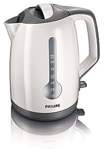Philips HD4644/00 Energy Efficient Kettle, 3000 Watt, 1.7 Litre - White/Grey