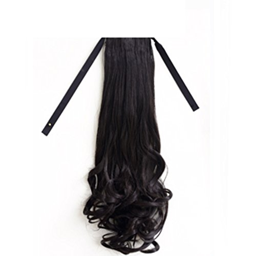 Le ragazze classico PERA rotolo parrucca/ parrucca di lunghi capelli di cavallo/ cravatta una coda di cavallo falso lanuginoso/Capelli lunghi-A