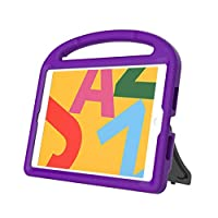 Kids Safe EVA Rubber Handle Tablet Stand Case Cover Shell for ipad 10.2 7th 2019 - Purple - CHENGZ Clearance