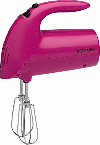 Batidora de mano para mezclar dispositivo 5niveles schaltung–Batidora (Ganchos para amasar Varilla (Motor 250W, agitador, todos los accesorios para lavavajillas, color morado)
