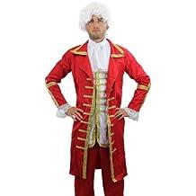 Barón Rojo: Disfraz muy elaborado, para hombre, Barroco, Mozart, Nobleza, Aristocrata, rey, talla: 56 XL