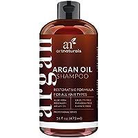 ArtNaturals shampoo all'olio di Argan biologico del Marocco–idratante, volumizzante shampoo per donne, uomini e ragazzi–ideale per capelli tinti ma adatto a tutti i tipi di capelli, anti-invecchiamento cura dei capelli, 473ml.