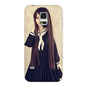 Premium Long Haired Sweet Doll Back Case Cover for Galaxy S5 Mini