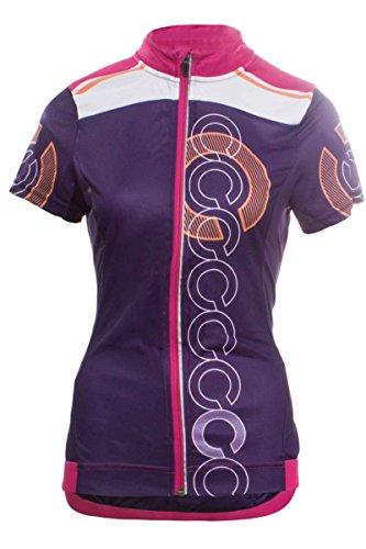 Crivit PRO® Damen Fahrradshirt Bikingshirt mit COOLMAX® Funktionsfaser Lila L