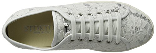 Stokton 60-d, Scarpe da Ginnastica Basse Donna Bianco (Bianco+argento)