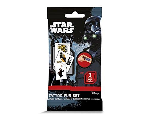 CRAZE 55640Star Wars Tattoo flüchtig, Mehrfarbig, 15 X 9 cm (Star-wars-tattoos)