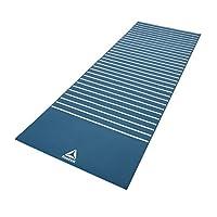 Reebok Rayg-11030Gn Double Sided Print Yoga Mat, Sky Blue - 4 Mm, Blue