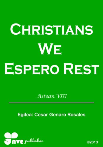 CHRISTIANS WE ESPERO REST (Nola kristau bizitzan hazten Book 8) (Basque Edition) por Cesar Genaro Rosales