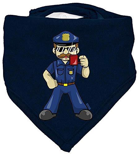 Kostüm Cop Baby - HARIZ Baby Halstuch Polizist Cool Tasse Polizei Cops Plus Geschenkkarte Matrosen Dunkel Blau