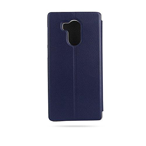 OCUBE Ledertasche Tasche für Vernee Apollo, Hülle Handyhülle Handytasche lederhülle Ledertasche mit Aufstellfunktion Tasche Flip Case Brieftasche für Vernee Apollo -Blau