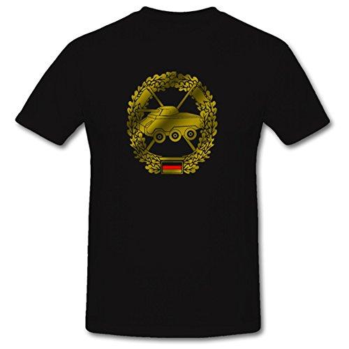 Bundeswehr Panzeraufklärer Barettabzeichen Uniform Abzeichen Heeresaufklärungstruppe - T Shirt #1095, Größe:4XL, Farbe:Schwarz