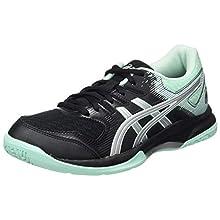 ASICS Women´'s Gel-Rocket 9 Indoor Court Shoe, Black/Fresh Ice, 4 UK