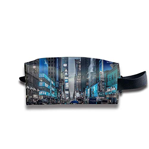 Makeup Cosmetic Bag New York Street Shopping Medicine Bag Zip Travel Portable Storage Pouch for Mens Womens